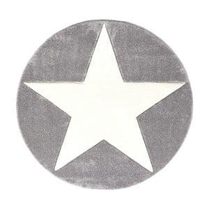 Sivý detský koberec Happy Rugs Round, Ø 133cm