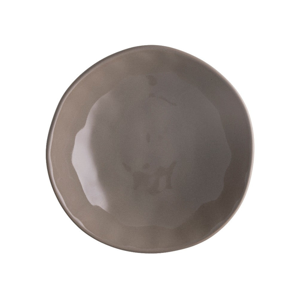 Hnedý porcelánový tanier na pizzu Brandani Pizza, ⌀ 20,5 cm