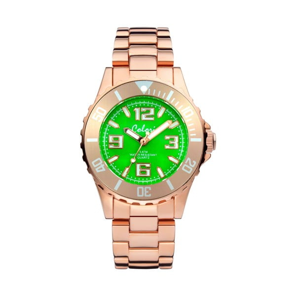 Hodinky Colori 33 Rose Green Colour