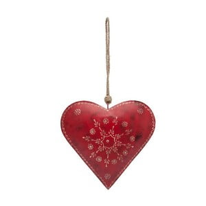Závesná dekorácia Country Red Heart Single
