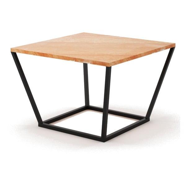 Malý béžový konferenčný stôl z mramoru s čiernou podnožou Absynth Noi Spain