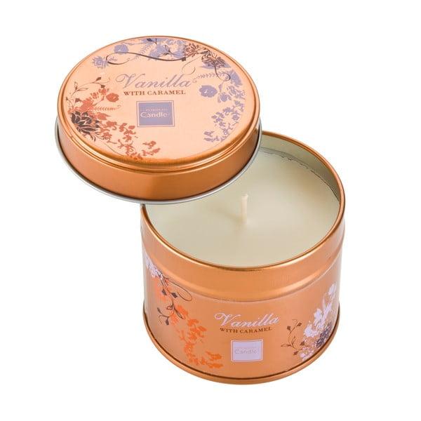 Aromatická sviečka v plechovke s vôňou vanilky a karamelu Copenhagen Candles, doba horenia 32 hodín