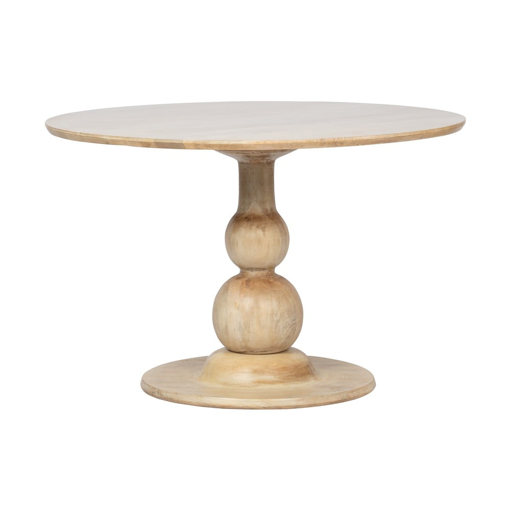 Okrúhly jedálenský stôl z mangového dreva BePureHome Blanco, ⌀ 120 cm