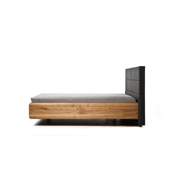 Posteľ z olejovaného jaseňového dreva Mazzivo Boxspring, 200×200 cm