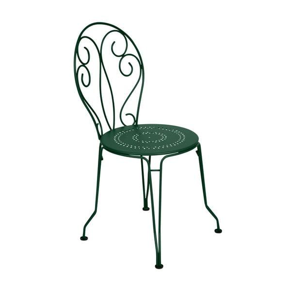 Zelená kovová stolička Fermob Montmartre