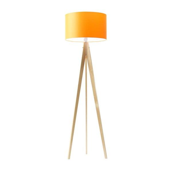 Oranžová stojacia lampa 4room Artist, breza, 150 cm