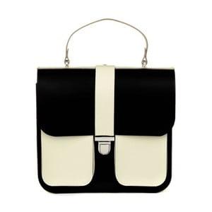 Krémovo-čierna kožená kabelka Brix + Bailey Onslow