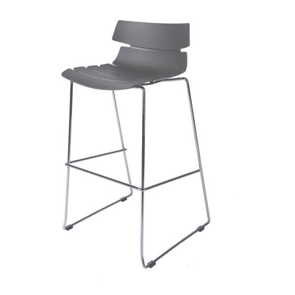 Barová stolička D2 Techno, sivá