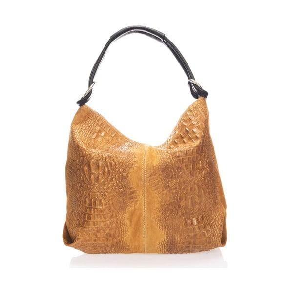 Kožená kabelka Girosi, koňaková