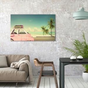 Obraz na plátne OrangeWallz Vitage Car, 70 x 118 cm