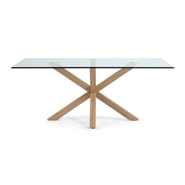Jedálenský stôl s drevenou podnožou La Forma Arya, dĺžka 200cm
