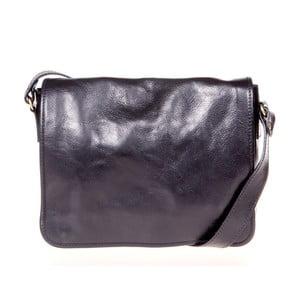 Čierna kožená taška cez rameno Italia in Progress Paride