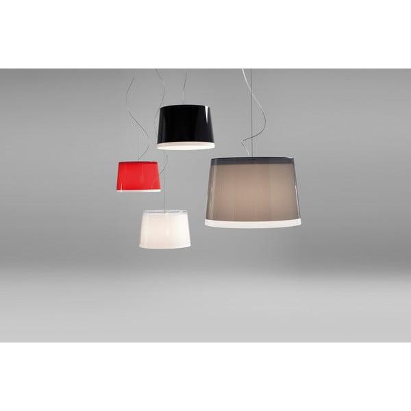 Závesné svietidlo Pedrali L001S/BB, červené transparentné