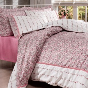 Sada obliečok a plachty In Love Rosarium Pink, 200x220 cm