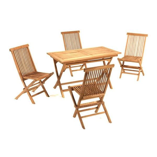 Záhradný stôl a 4 stoličky Santiago Pons Girona Natural