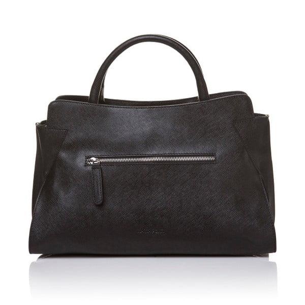 Kožená kabelka do ruky Marta Ponti Noir, čierna