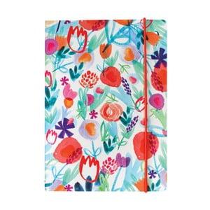Zápisník Portico Designs Spring Floral, 80stránok