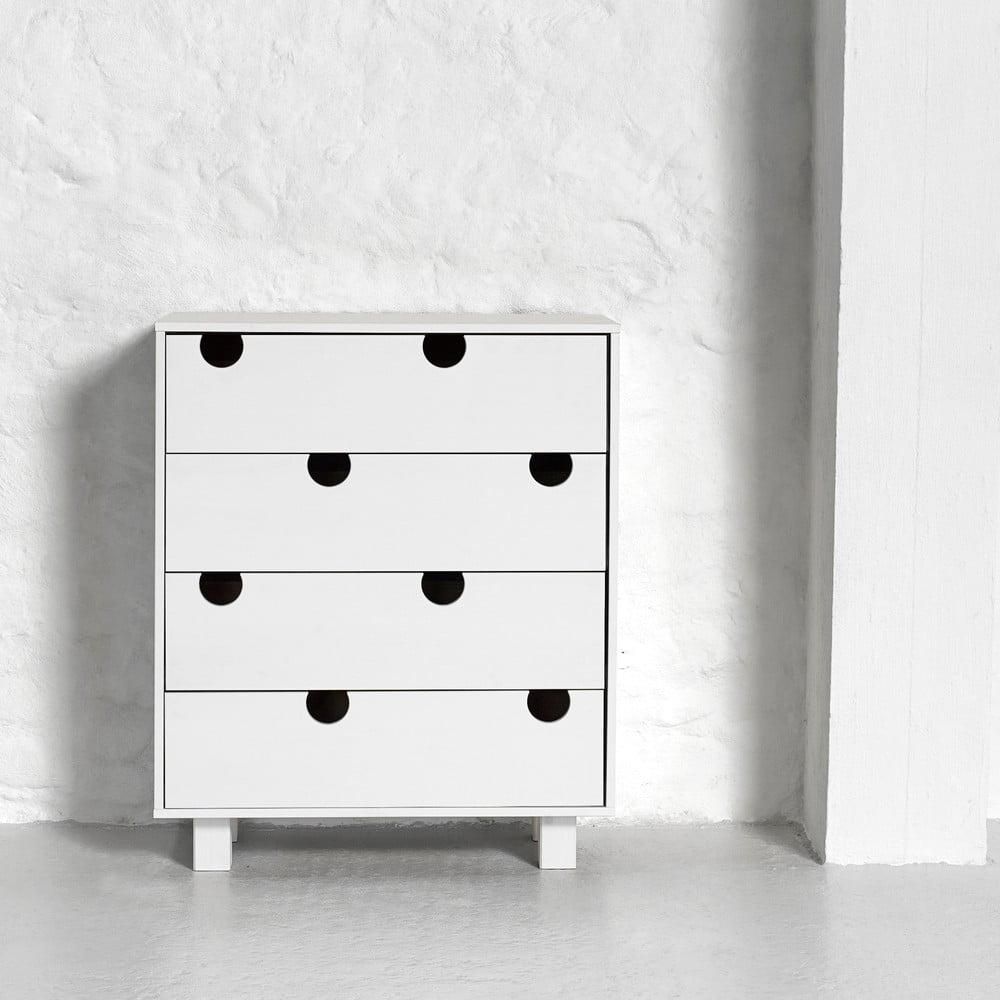 Komoda so štyrmi zásuvkami Karup Design House White/White
