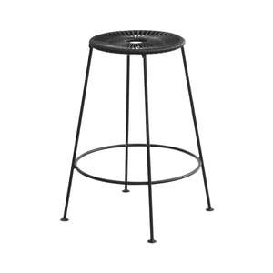 Čierna barová stolička OK Design Acapulco, výška 66 cm