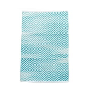 Bavlnený koberec InArt Marine, 150x210 cm, krémový/mint