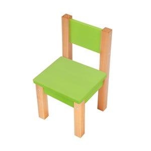 Zelená detská stolička Mobi furniture Mario