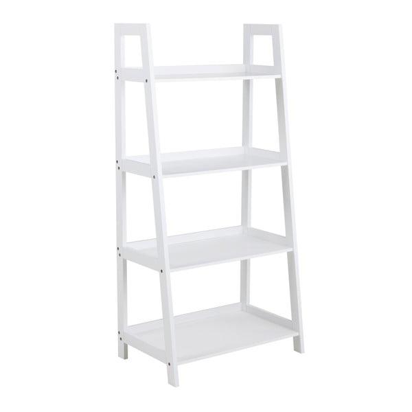 Biely štvorposchodový regál Actona Wally