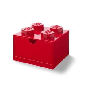 Červený stolový box so zásuvkou LEGO®, 15 x 16 cm
