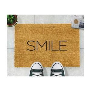 Rohožka z prírodného kokosového vlákna Artsy Doormats Smile, 40x60cm