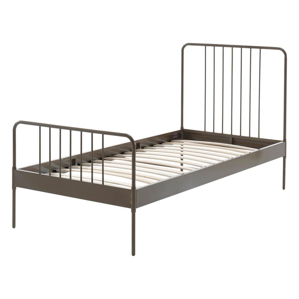 Hnedá kovová detská posteľ Vipack Jack, 90 × 200 cm