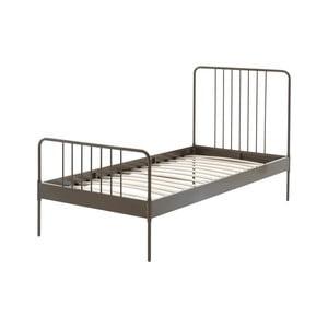 Hnedá kovová detská posteľ Vipack Jack, 90×200 cm