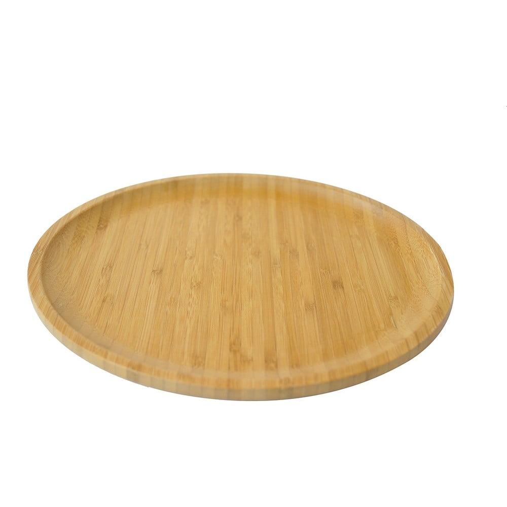 Bambusový servírovací podnos Bambum Penne, ⌀ 28 cm