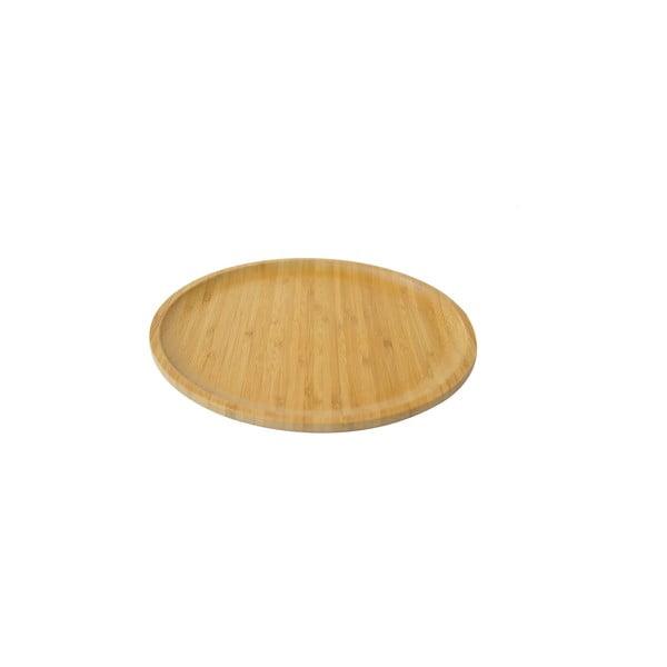 Bambusový servírovací podnos Bambum Penne, ⌀ 28cm
