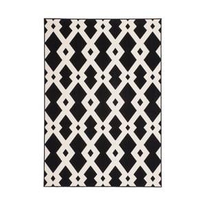 Čierno-biely koberec Kayoom Stella 100 Black, 80x150cm