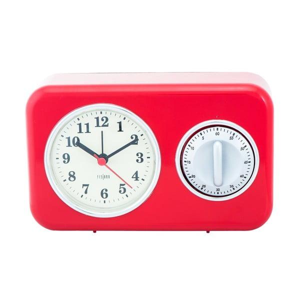 Kuchynské hodiny s minútkou Red Vintage
