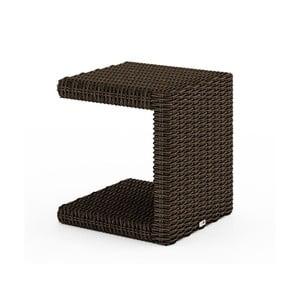Hnedý záhradný príručný stolík Oltre Romeo