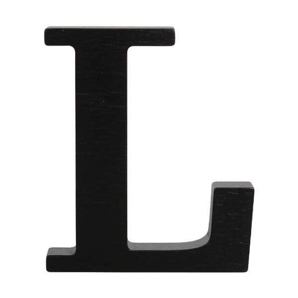 Čierne drevené písmeno Typoland L