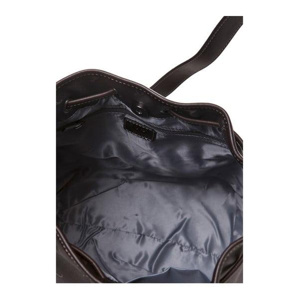 Kožená kabelka Canguru Bucket, hnedá