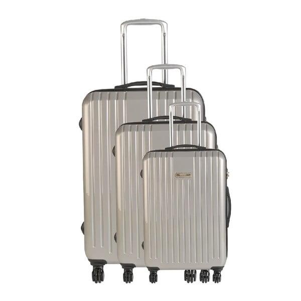 Set 3 cestovných kufrov Majestik Metal