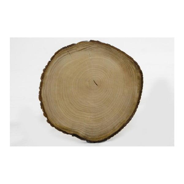 Odkladací stolík z dreva duba a Mambi