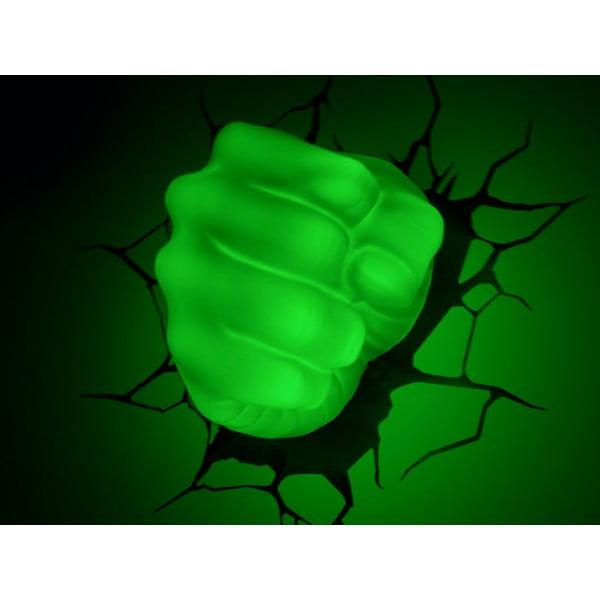 Nástenné svetlo s nálepkou Hulk