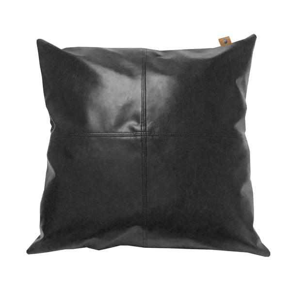 Čierny vankúš OVERSEAS Vintage, 45x45cm