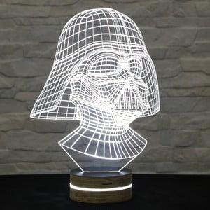 3D stolová lampa Darth Vader