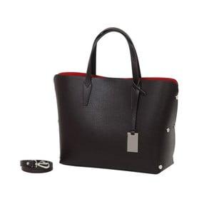 Tmavohnedá kabelka z pravej kože Andrea Cardone Dettalgio