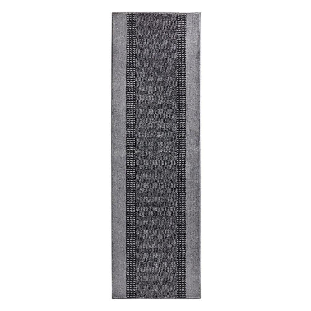 Sivý behúň Hanse Home Monica, 80 × 400 cm