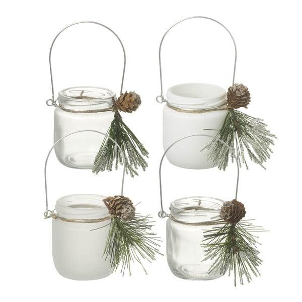 Sada 4 svietnikov Parlane Pine