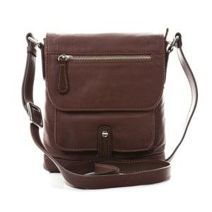 Hnedá kožená kabelka Gianni Conti Liliana