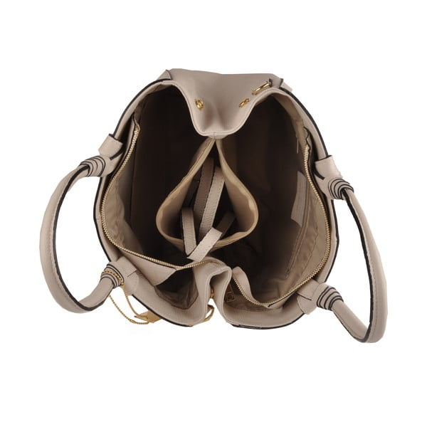 Kožená kabelka Emilio Masi Bristol, pudrová