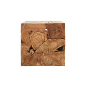 Príručný stolík z teakového dreva HSM collection Cube, 40×40 cm