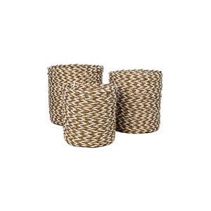 Sada 3 úložných košíkov HSM collection Raffia Natural