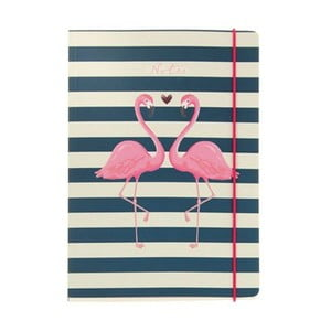 Zápisník A5 Go Stationery Flamingo Stripes